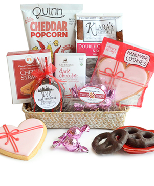 Hugs and Kisses Snack Basket
